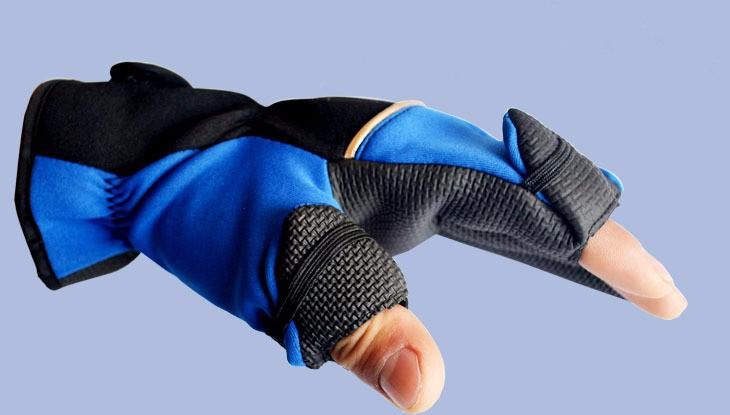 Перчатки для рыбалки/охоты материал неопрен с антискользящим покрытием ладони