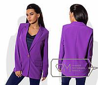 Пиджак однотонный