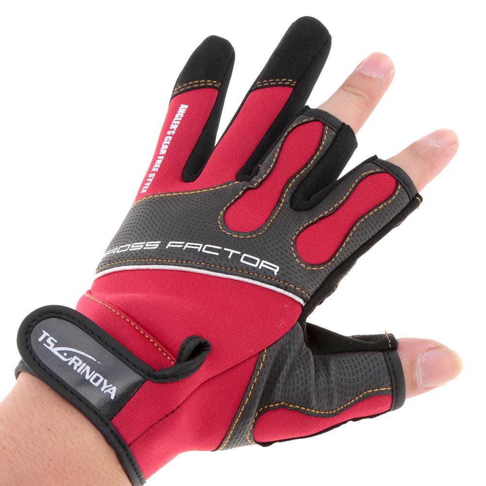 Перчатки для рыбалки с 3 открытыми пальцами, неопрен