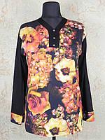 Кофта женская черная с розами