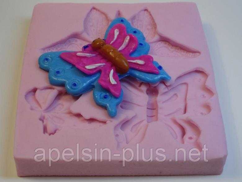 Молд силиконовый для мастики Бабочки 8,5 см  8,2 см
