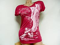 Летняя женская футболка, спина сетка
