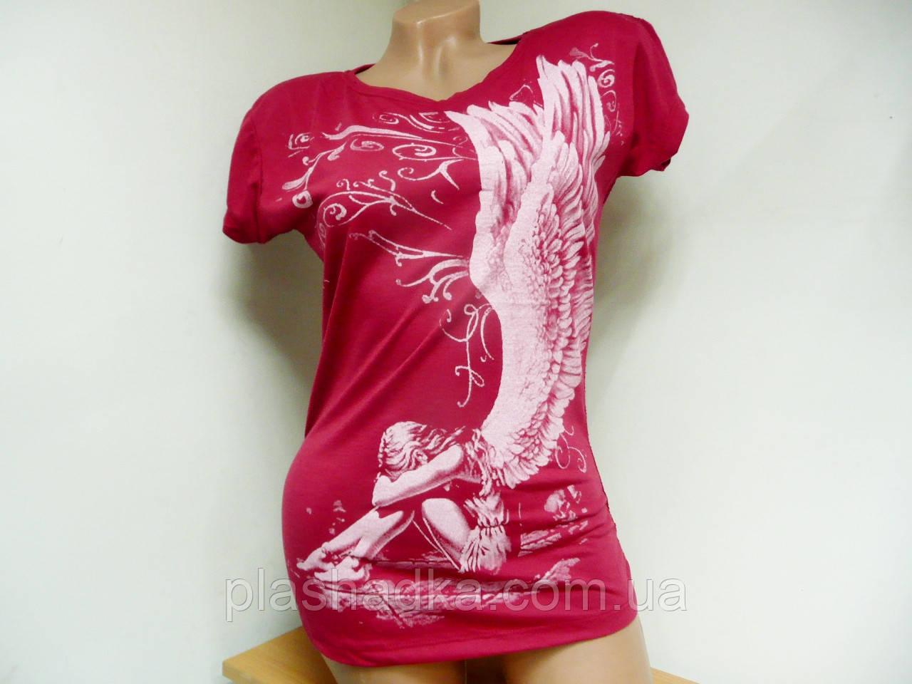 Летняя женская футболка, спина сетка - PLASHADKA.COM.UA в Запорожье