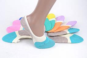 Детские носки-следки ХЛОПОК с силиконом (SL801/15) | 12 пар