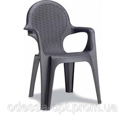 Кресло пластиковое антрацит