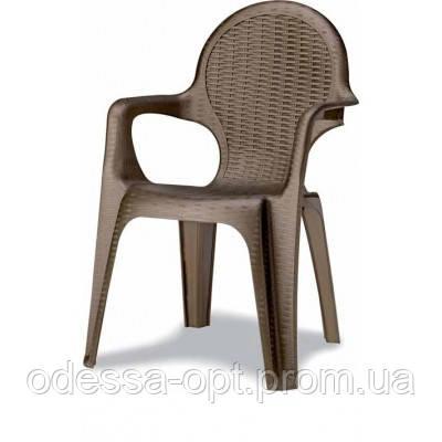 Кресло пластиковое бронза