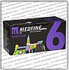 Иглы Wellion Medfine Plus для инсулиновых шприц-ручек 6мм (31G x 0,25 мм)