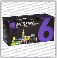 Голки Wellion Medfine Plus для інсулінових шприц-ручок 6мм (31G x 0,25 мм)