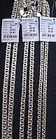 Серебряная цепь 925 пробы Бисмарк плоский