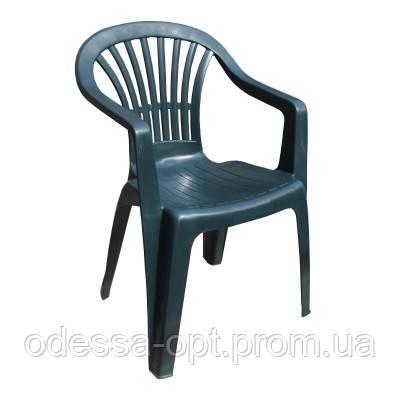 Кресло пластиковое зеленое
