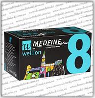 Голки Wellion Medfine Plus для інсулінових шприц-ручок 8мм (31G x 0,25 мм)