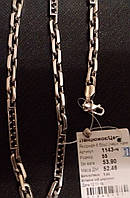 Серебряная цепь 925 пробы Якорная 6 брус