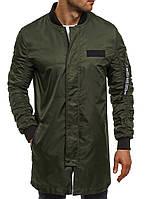 Куртка ветровка мужская (удлинённая) цвета хаки