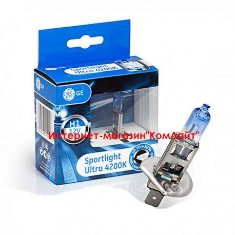 Автомобильные лампы General Electric H1 4200K Sportlight Ultra 50310SBU 12V 55W - 2шт (Венгрия)