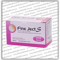 """Иглы для инсулиновых шприц-ручек """"Fine Ject S"""" 5 мм"""