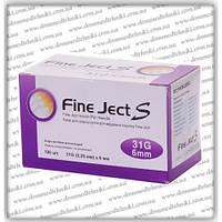 """Иглы для инсулиновых шприц-ручек """"Fine Ject S"""" 6 мм"""