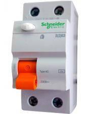 Диференціальний вимикач Schneider Electric ВД63 2P 25А 30мА, фото 2