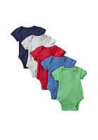 Летние детские бодики (5 шт)  3-6, 6-9  месяцев, фото 1