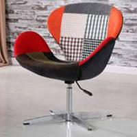 Кресло дизайнерское Сванни patchwork петчворк, с газовым лифтом, точная копия кресла Swan дизайн Арне Якобсена
