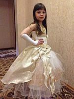 Нарядное платье Золотая фея прокат киев