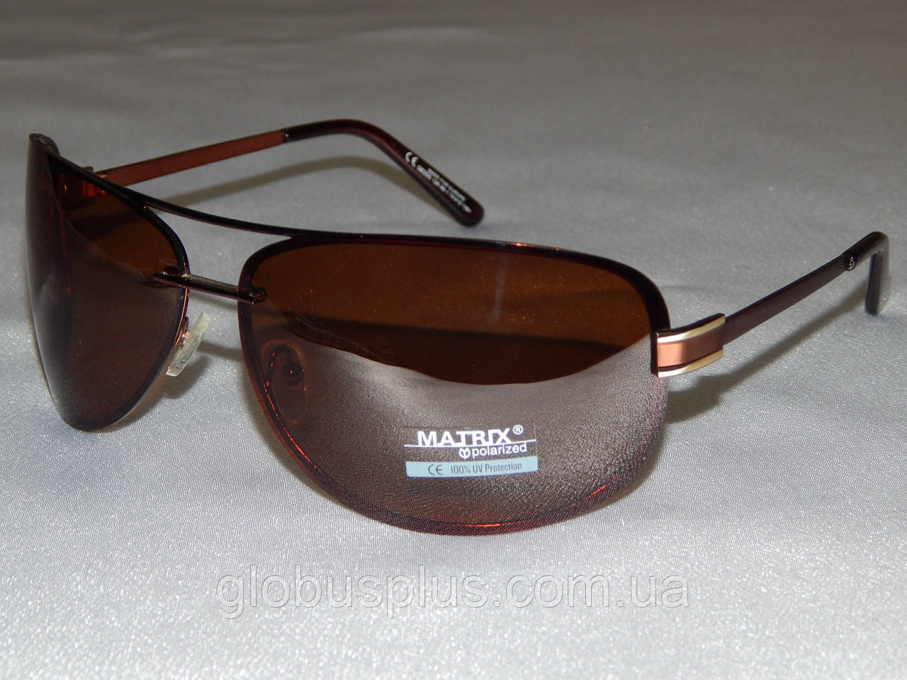 """Мужские солнцезащитные очки Matrix, большие коричневые капли 780160 - """"Глобус Плюс"""" интернет-магазин в Харькове"""