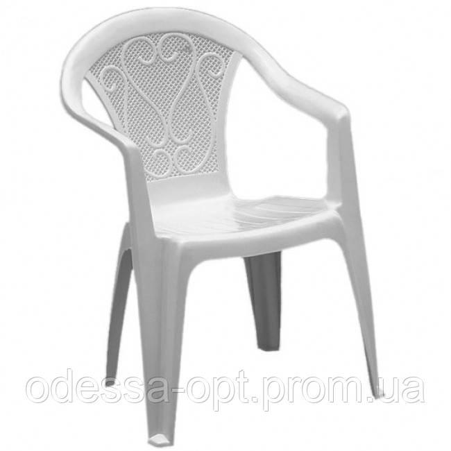 Кресло пластиковое белое