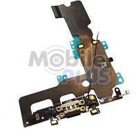 Шлейф с разъемом зарядки и наушников для Apple iPhone 7 Plus Black