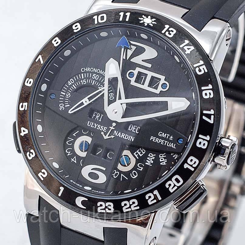 "Часы Ulysse Nardin GMT+/-Perpetual""El Toro"".Класс ААА"