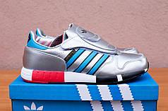 Мужские кроссовки Adidas Micropacer Metallic серебристые топ реплика