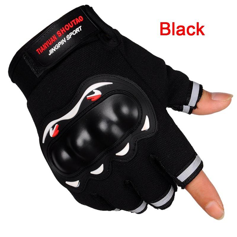 Перчатки для вело/мото спорта без пальцев, с защитой синие