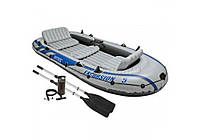 Intex 68325, надувная лодка Excursion-5 Set