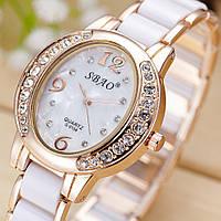 Женские кварцевые часы SBAO (White)