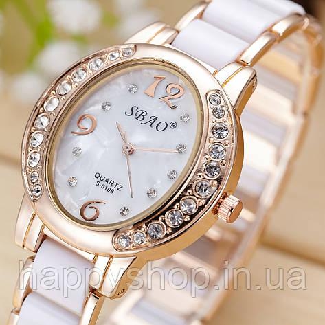 Женские кварцевые часы SBAO (White), фото 2
