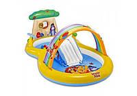 Intex 57136, детский игровой центр бассейн с горкой Винни Пух