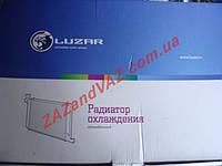 Радиатор охлаждения основной Ланос Lanos без кондиционера алюминиево-паяный Лузар Luzar Россия LRc 0563b