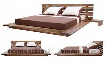 Кровать двуспальная из массива ясеня, фото 3