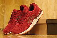 Мужские кроссовки Asics Gel Lyte из натуральной замшы, красные / кроссовки мужские Асикс Гель Лайт, модные