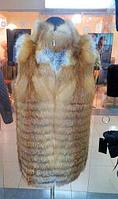 Женская жилетка из лисы большого размера