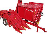 MAJEVICA-2R - двухрядный прицепной комбайн для уборки кукурузы в початках.