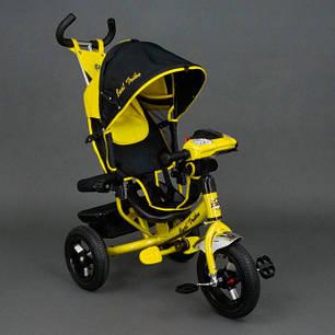 Детский трехколесный велосипед Best Trike с фарой 6588В желтый, фото 2