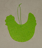 Подвеска-курица флизелин зеленая