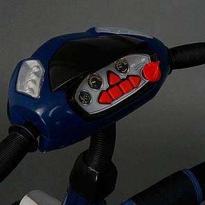 Детский трехколесный велосипед Best Trike с фарой (надувные колеса) 6588В синий, фото 2