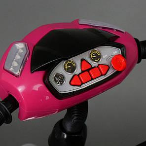 Детский трехколесный велосипед Best Trike с фарой (надувные колеса) 6588В розовый, фото 2