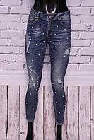 Модные джинсы женские скинни Water jeans (код B053)