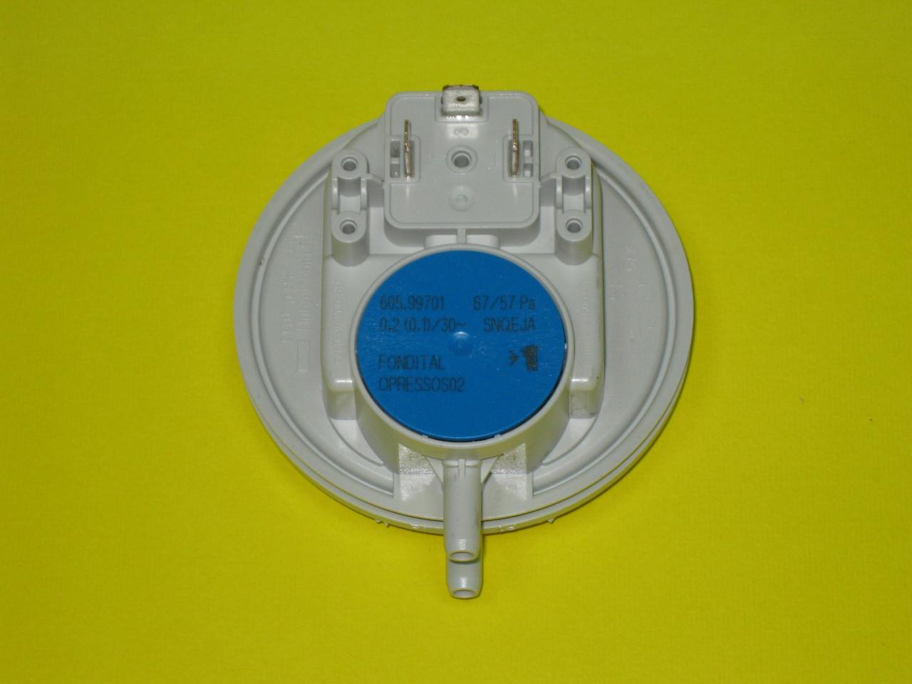 Датчик разряжения воздуха (прессостат) 67/57 PA 6PRESSOS02 Fondital, Nova Florida