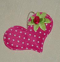 Подвеска-сердце с цветком 1 шт