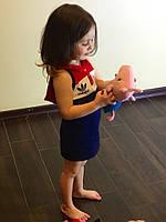 """Спортивное платье детское с капюшоном, лого Адидас, серия """"Мама-дочка"""""""