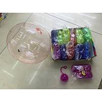 Воздушный шар набор 12006-4 силикон с жучком малый (пачка 6шт) уп12 +насос