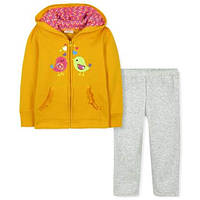 Демисезонный утепленный комплект с начесом для девочки от 2 до 7 лет (Разм. 92-122) ТМ Little Maven