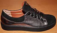 Женские туфли на шнурках кожа, замшевые туфли женские от производителя модель ВБ1564